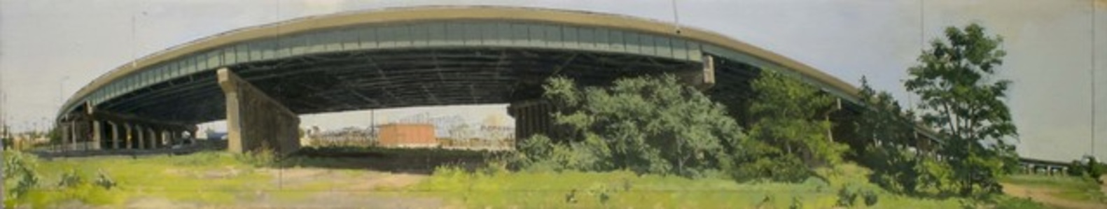 S-Bend in Elevated Section of the New Jersey Turnpike (study)