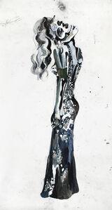 Untitled(vrouw met doodshoofd)
