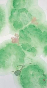 Lotus (Vertical Green)