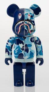 Shark Hoddie Be@rbrick 400% (Blue)