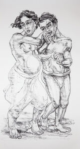 Sita and Laksmana at Ganga (Indian Version)