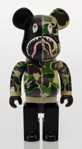 Shark Hoodie Be@rbrick 400% (Green)