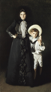 Portrait of Mrs. Edward L. Davis, and Her Son, Livingston Davis