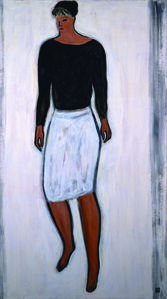 Woman in a White Skirt