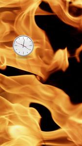 Flames Clock (Right)