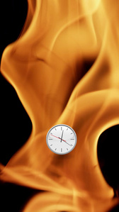 Flames Clock (Down)