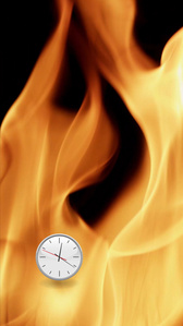 Flames Clock (Up)