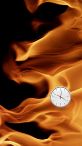 Flames Clock (Left)