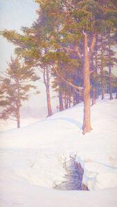 Winter Landscape with Stream