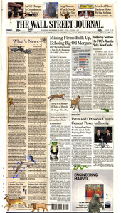 Online Newspapers New York Edition: Wall Street Journal