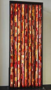 Glass wall made of 'tessuto' glass