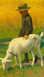 Junge mit Ziege (Boy with Goat)