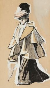 Fashionable Woman Promenading