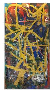 Yellow slash as rood screen