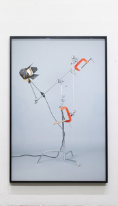 """Untitled (c-stand, clamp, fresnel 650, cuña),"""