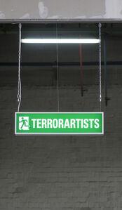 """Leuchtkasten """"Terrorartists"""""""