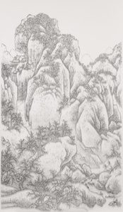 Imitating Solitary Temple in The Snowy Mountains by Fan Kuan, Song Dynasty, Late 10th Centery