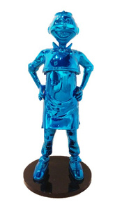 Old Master Q Life-Size Sculpture - Blue