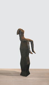 Sitting Figure on Tall Base