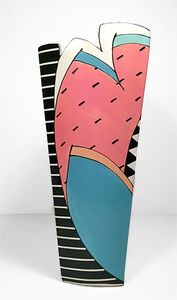 Pinstripes with Watermelon Slice Vase
