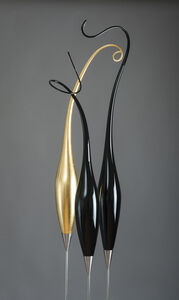 Guardian Triptych with Gold I
