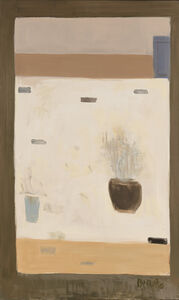Untitled (White Still Life with Flowers)