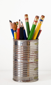 Tin Can with Pencils