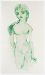 Green Girl with Veil