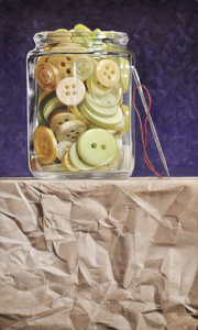 Buttons on Paper