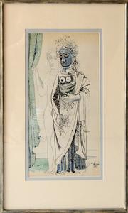 Woman at Window Figure Study