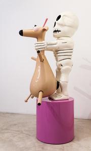 Deer and Skeleton
