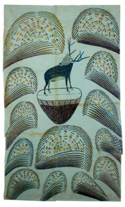 Untitled, (Stag on Mound with Fireworks)
