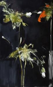 Foliage in Darkness series (Orange Flower, Green Stem)