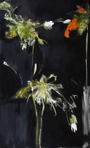 Foliage in Darkness series (red flower)