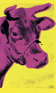 Cow (Pink on Yellow)