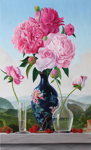 Peonies in a Japanese Vase