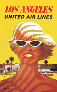 United Air Lines - Los Angeles - Beach Babe