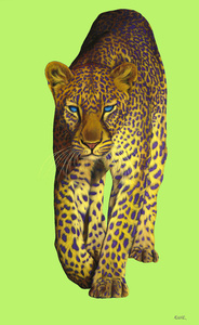 Leopard on Green