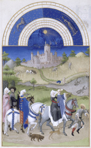 August, miniature from the Très Riches Heures