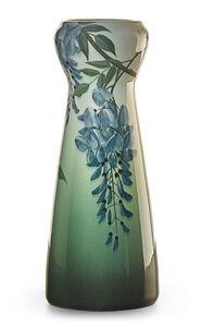 Iris Glaze vase with wisteria, Cincinnati, OH