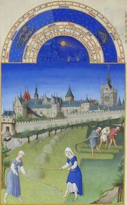 June, miniature from the Très Riches Heures