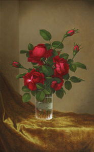 Cluster of Roses in a Glass