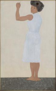 Self Portrait in White Dress