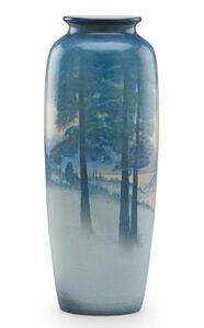 Winter Scenic Vellum vase (uncrazed), Cincinnati, OH