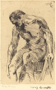 Seated Male Nude (Sitzender Männlicher Akt)