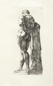 [Farnese Hercules, 3/4 rear view]