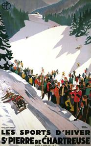 Les Sports D'Hiver - Chartreuse - Sledding - Skiing
