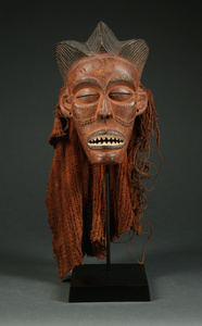 A Mask That Is Very Special in Person, Early O.G. Style Chokwe Maiden Mask