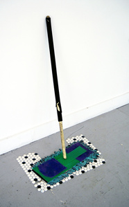 Dust Mop (Green and Purple)