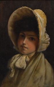 Young girl in Bonnet